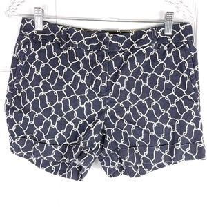 J. CREW City Fit navy blue nautical rope shorts